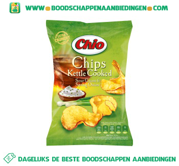 Chio Kettle cooked sour cream aanbieding