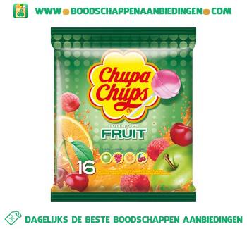 Chupa Chups Lollipops fruit aanbieding