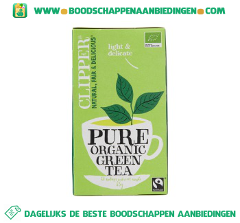 Clipper Organic green tea 1-kops aanbieding