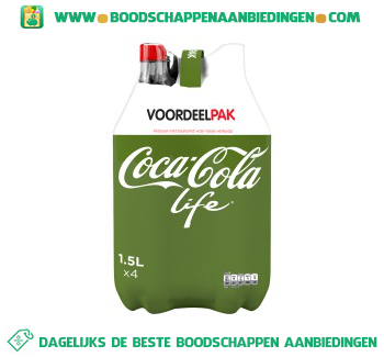 Coca-Cola Life 4-pak aanbieding