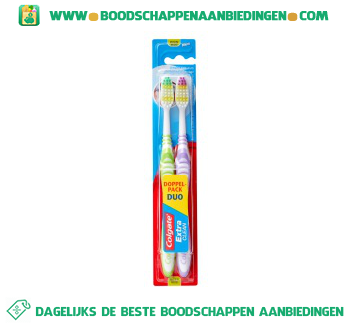 Colgate Tandenborstels extra clean medium aanbieding