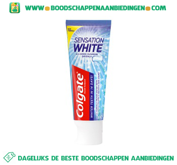 Tandpasta sensation white aanbieding