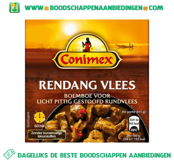 Conimex Boemboe Rendang Vlees aanbieding