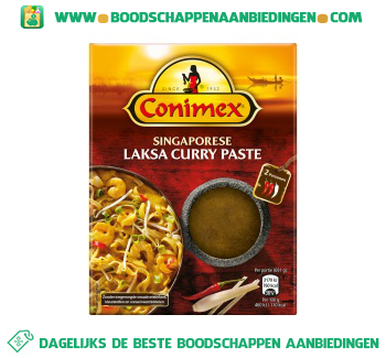 Conimex Singapore laksa curry aanbieding