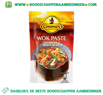 Conimex Wok Paste Five spices & Black bean aanbieding