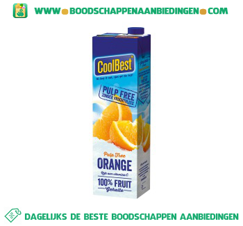 Coolbest Premium orange zonder vruchtvlees aanbieding