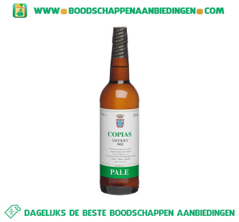Copias Sherry pale dry aanbieding