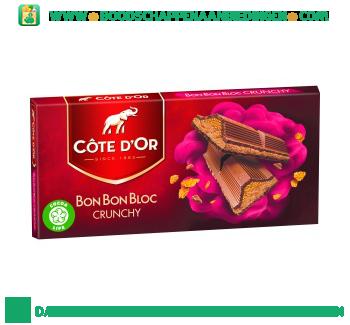 Côte d'Or Bonbonbloc crunchy aanbieding