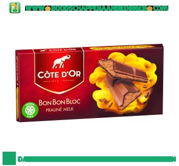 Côte d'Or Bonbonbloc praline melk aanbieding