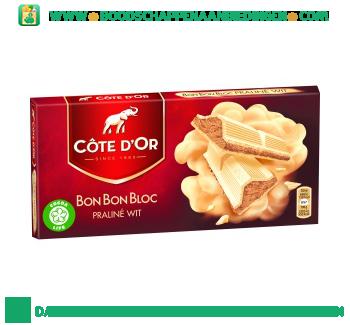 Côte d'Or Bonbonbloc praline wit aanbieding