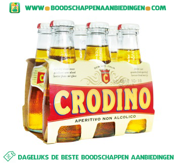 Crodino Aperitief zonder alcohol pak 6 flesjes aanbieding