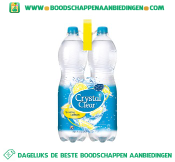 Crystal Clear Sparkling lemon 4-pak aanbieding