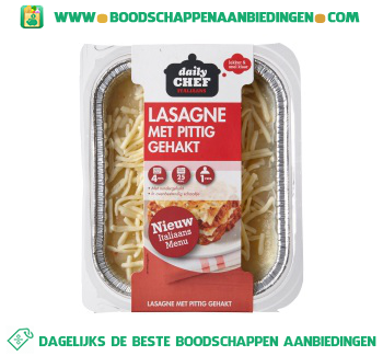 Daily Chef Lasagne met pittig gehakt aanbieding