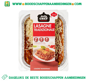 Daily Chef Lasagne traditioneel aanbieding