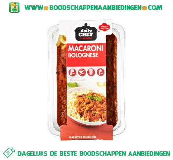 Daily Chef Macaroni bolognese aanbieding