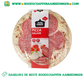 Daily Chef Pizza salami aanbieding