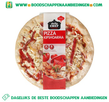 Daily Chef Pizza shoarma aanbieding