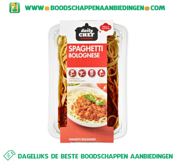 Daily Chef Spaghetti bolognese aanbieding