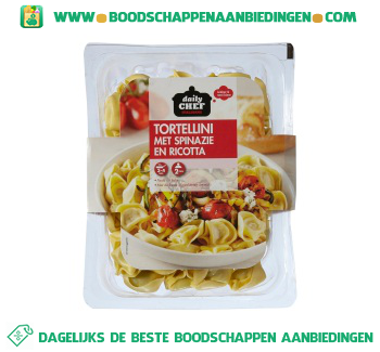 Daily Chef Tortellini met spinazie en ricotta aanbieding