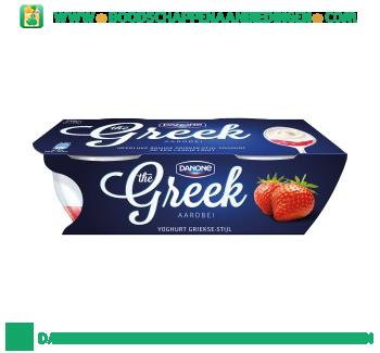Danone Greek yoghurt Griekse stijl aardbei 2-pak aanbieding