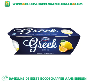 Danone Greek yoghurt Griekse stijl citrus 2-pak aanbieding