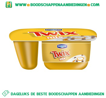 Danone Twix yoghurt aanbieding