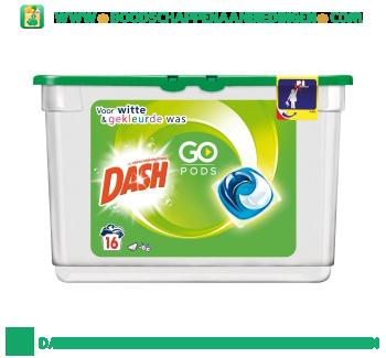 Dash Go pods regular en color wasmiddel 16 wasbeurten aanbieding