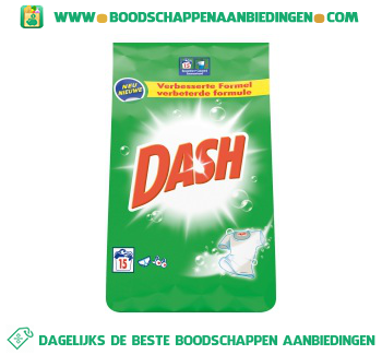 Dash Regular waspoeder 15 wasbeurten aanbieding