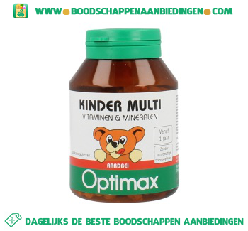 Davitamon Optimax kinder multivitaminen aanbieding
