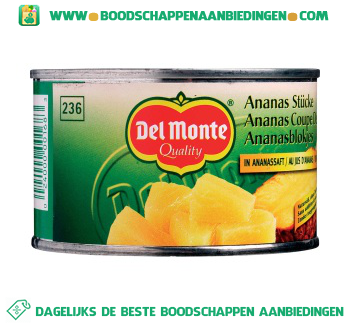 Del Monte Ananasblokjes op sap aanbieding