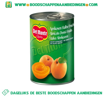Del Monte Halve abrikozen op siroop aanbieding