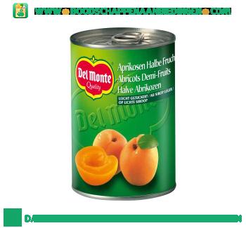 Halve abrikozen op siroop aanbieding
