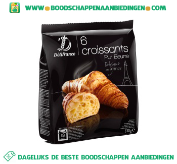 Delifrance Roomboter croissants aanbieding