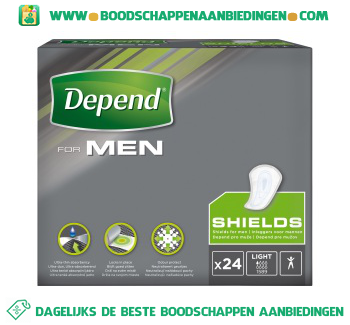 Depend For men shield light aanbieding