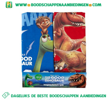 Disney Singlet The Good Dinosaur maat 116/122 pak 2 stuks aanbieding