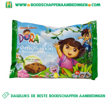 Dora Ontbijtkoekjes appel & rozijn aanbieding