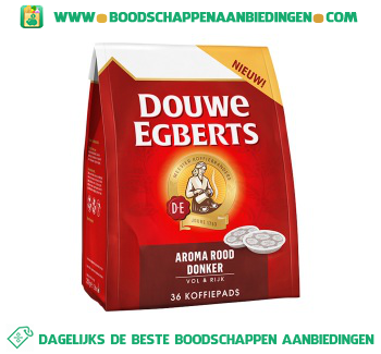 Douwe Egberts Aroma rood donker koffiepads aanbieding