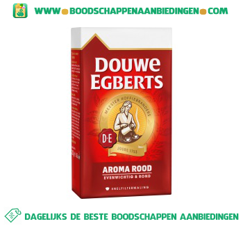 Douwe Egberts Aroma rood snelfiltermaling aanbieding