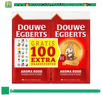 Douwe Egberts Aroma rood snelfiltermaling dubbelpak aanbieding