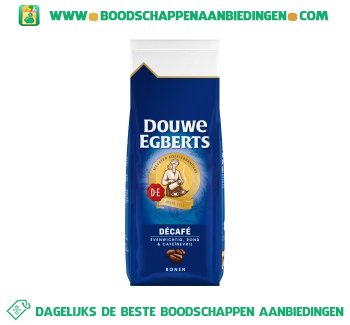 Douwe Egberts Decafé koffiebonen aanbieding