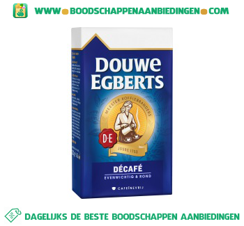 Douwe Egberts Décafé snelfiltermaling aanbieding