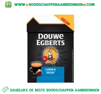 Douwe Egberts Lungo capsules decafe aanbieding