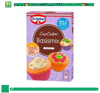 Basismix voor cupcakes naturel aanbieding