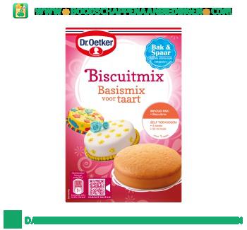 Dr. Oetker Biscuitmix basismix voor taart aanbieding