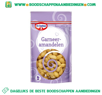 Dr. Oetker Garneeramandelen aanbieding