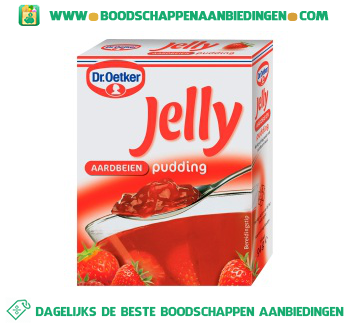 Dr. Oetker Jelly aardbeien pudding aanbieding