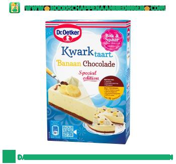 Dr. Oetker Kwarktaart banaan chocolade aanbieding