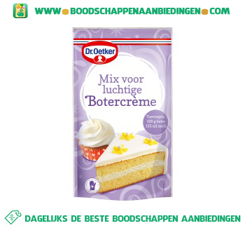 Dr. Oetker Mix voor luchtige botercrème aanbieding