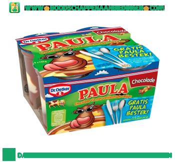 Dr. Oetker Paula chocoladevla met vanillevlekken aanbieding