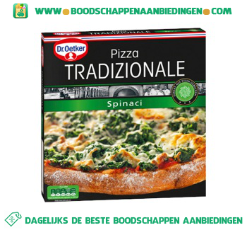 Dr. Oetker Pizza tradizionale spinaci aanbieding